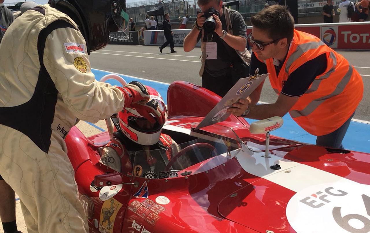 Unser Instruktor Marco Werner startete bei der Le Mans Classic
