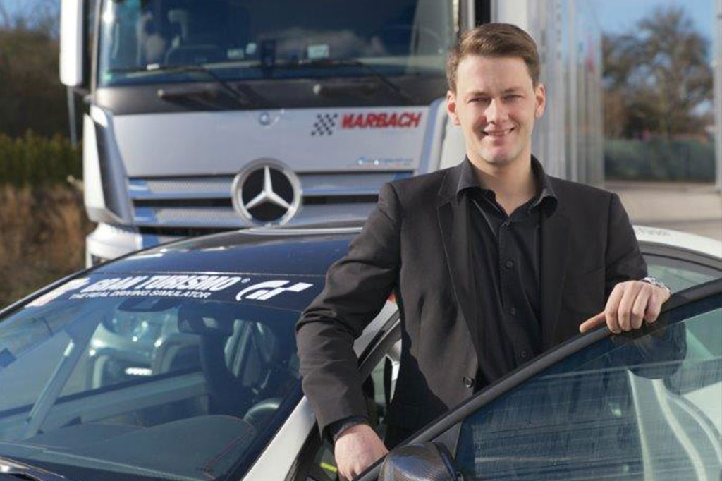 Marc Marbach beim Fahrsicherheitstraining